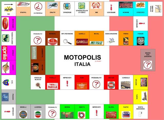 Motopolis il gioco da tavolo per motociclisiti tabellone - Domino gioco da tavolo ...